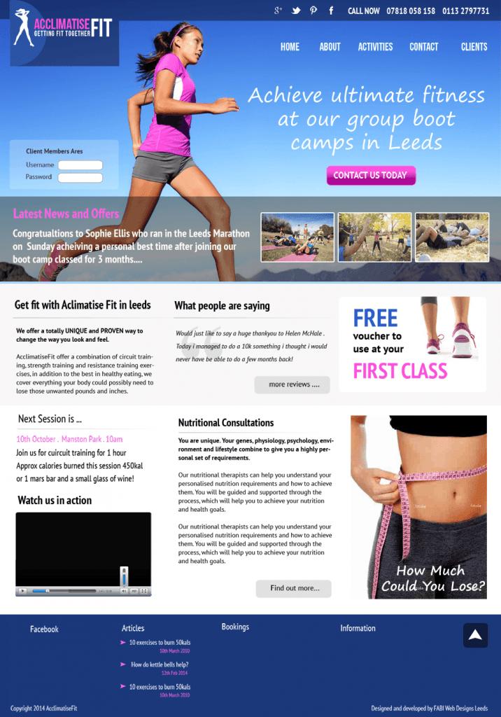 personal trainer website template freelance web designer