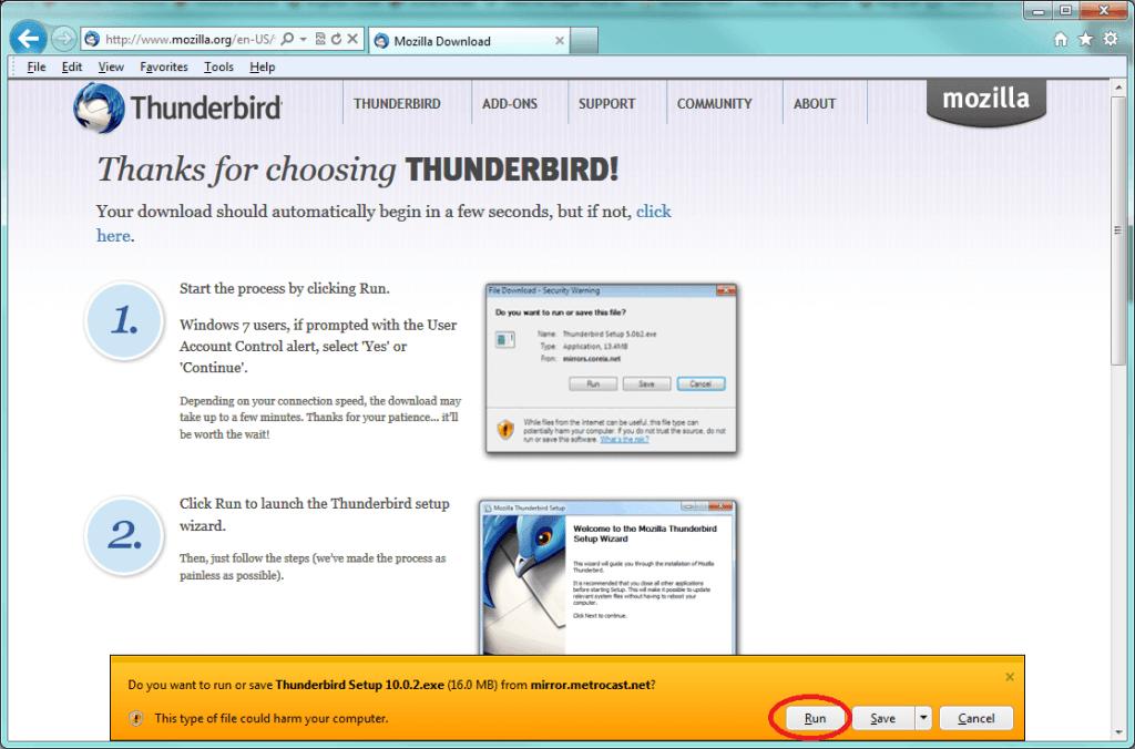 Thunderbird Email Configurations