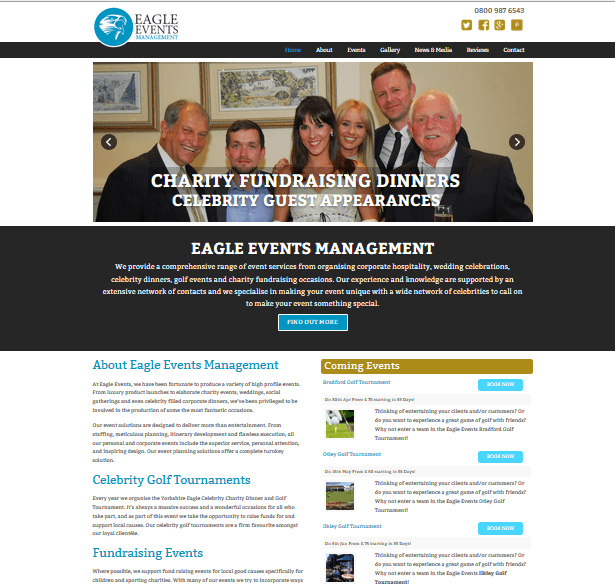 Website Design for Events Management