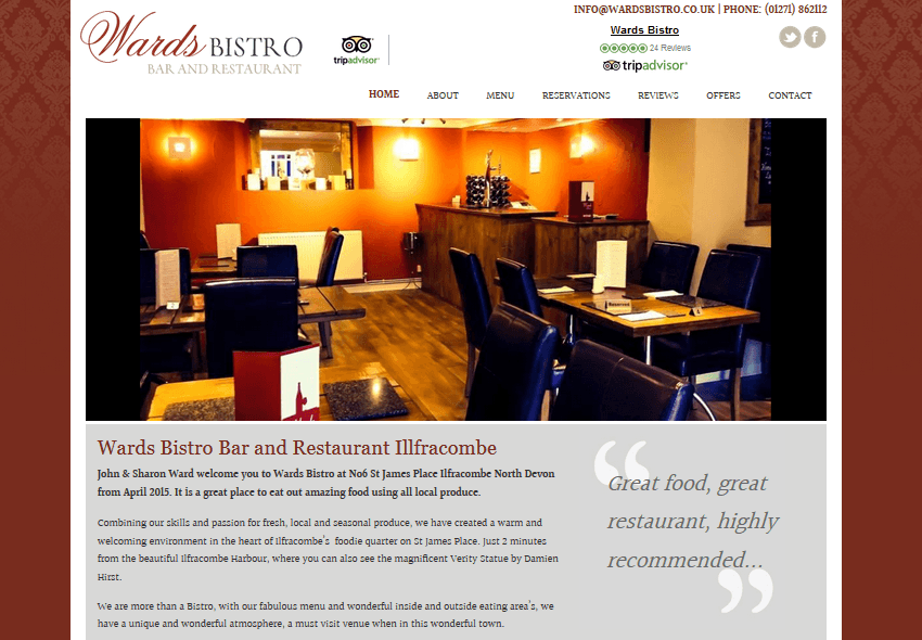 RESTAURANT WEB DESIGN LEEDS