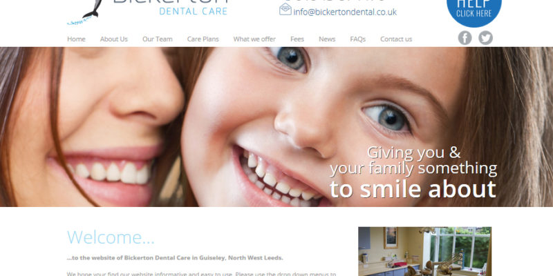 Dentist Web Design Leeds