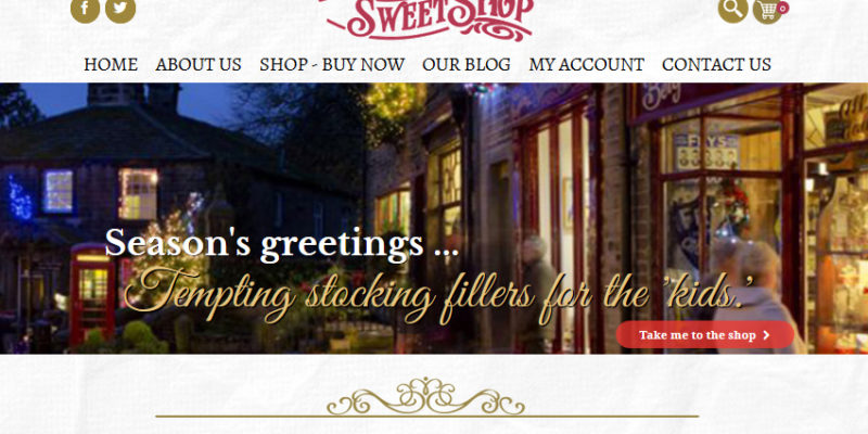 sweet shop web design