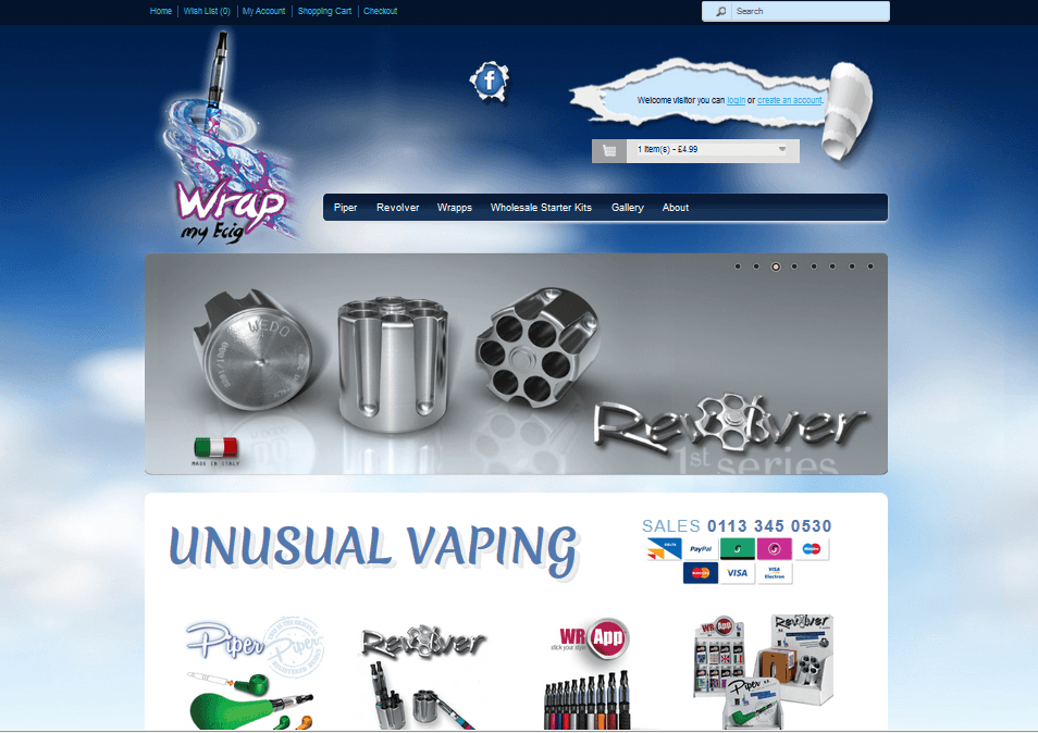 Bespoke e-cig website design