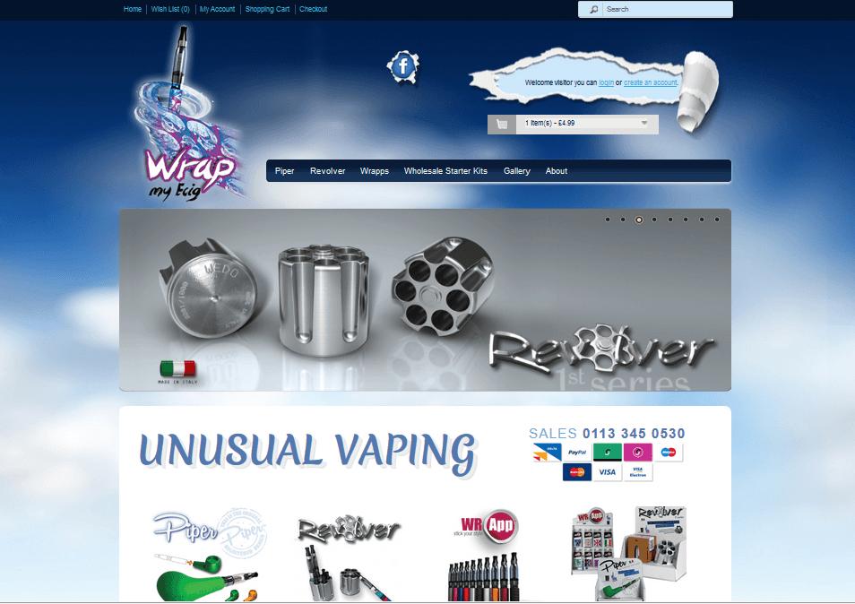 Bespoke e-cig website design