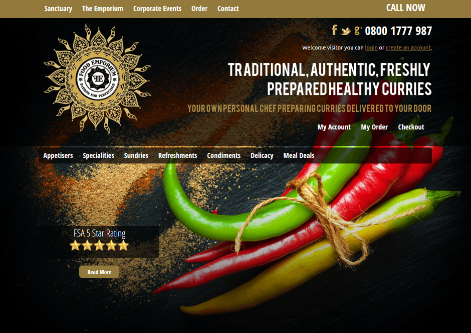 Food Emporium Web Design