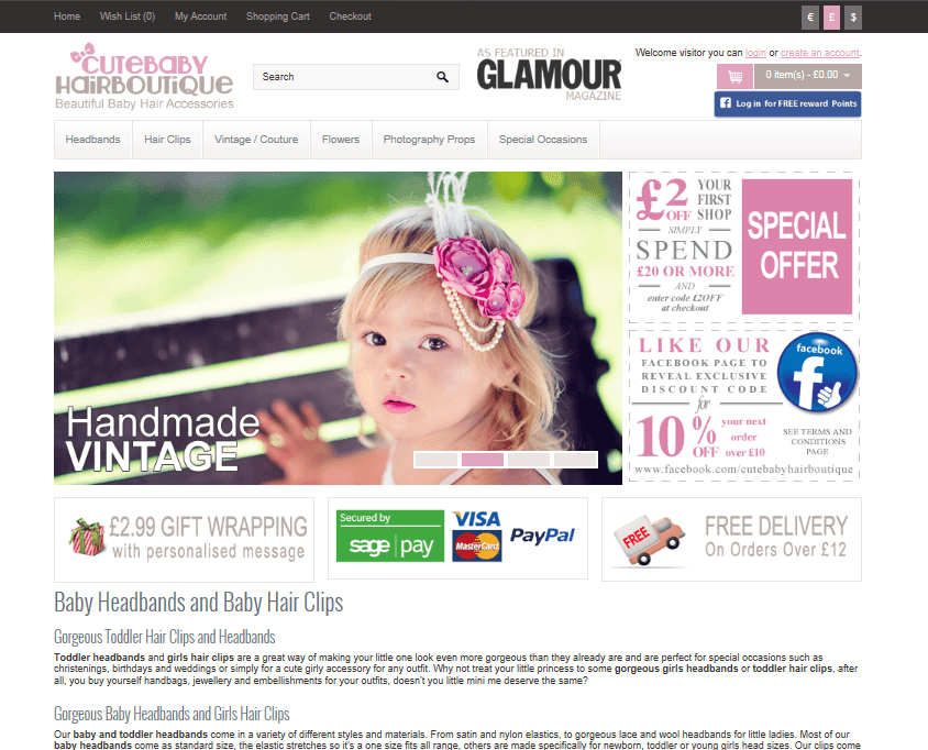 Bespoke web design for baby products