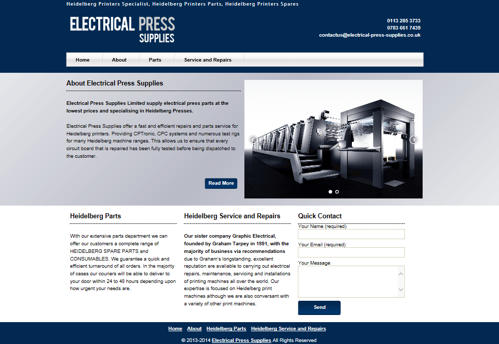 website design for electrician