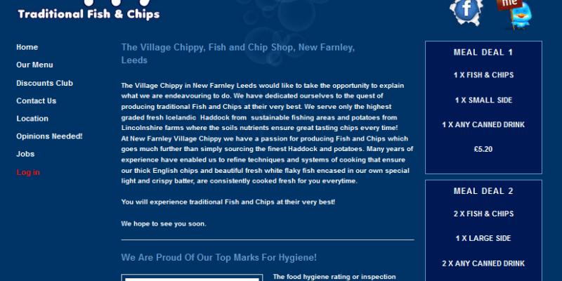 restaurant website design leeds