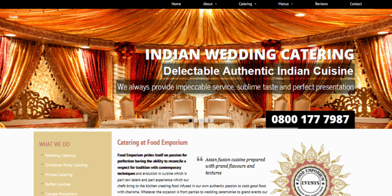 website for catering company leeds