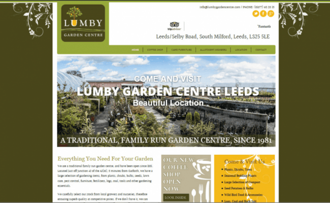 lumby garden center web design
