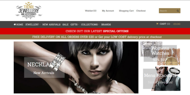 trendi-jewellery website design
