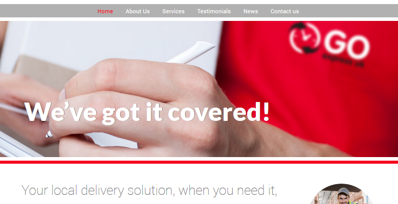 Courier Website Development Example