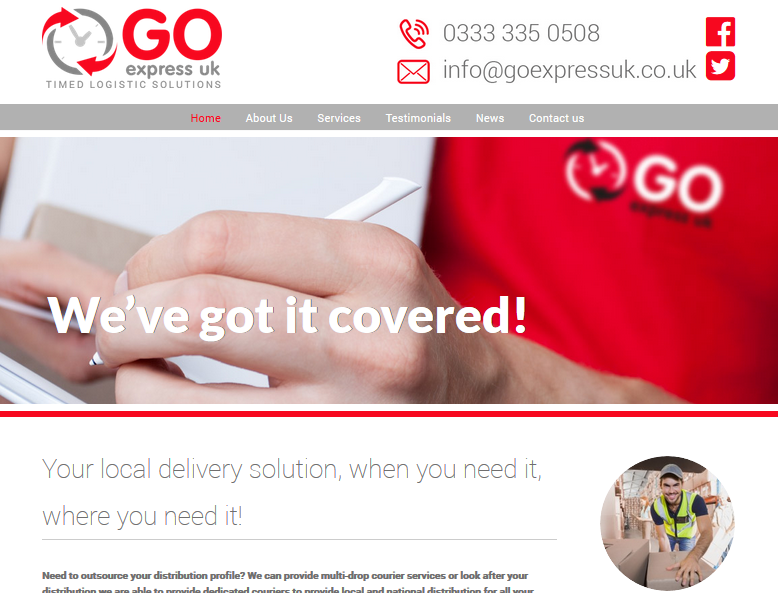 Courier Website Development Example