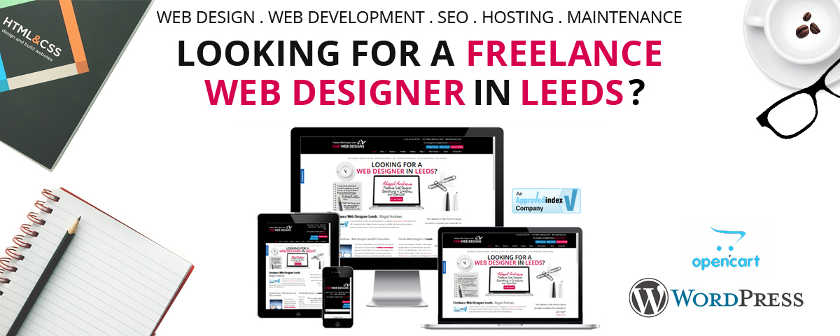 freelance web designer leeds