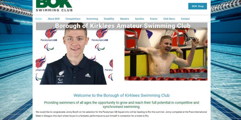 bok swimming club web design