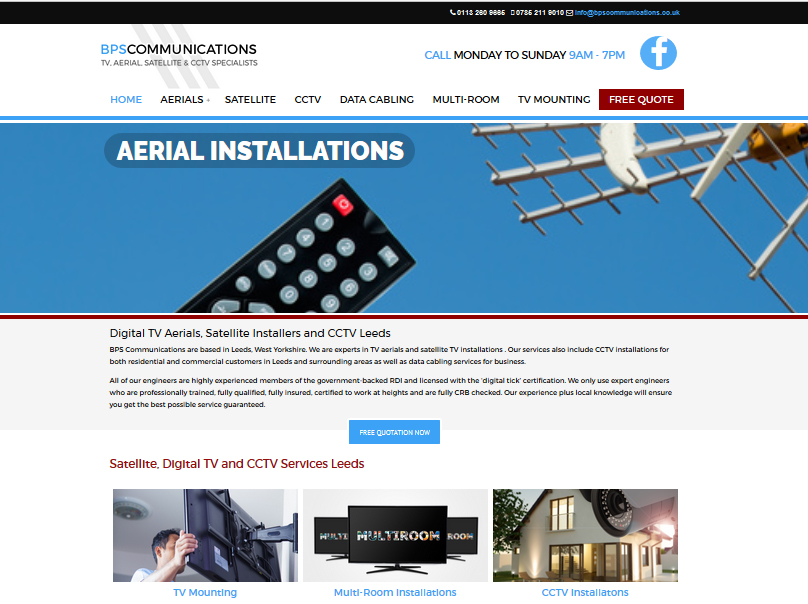 TV aerials web designs