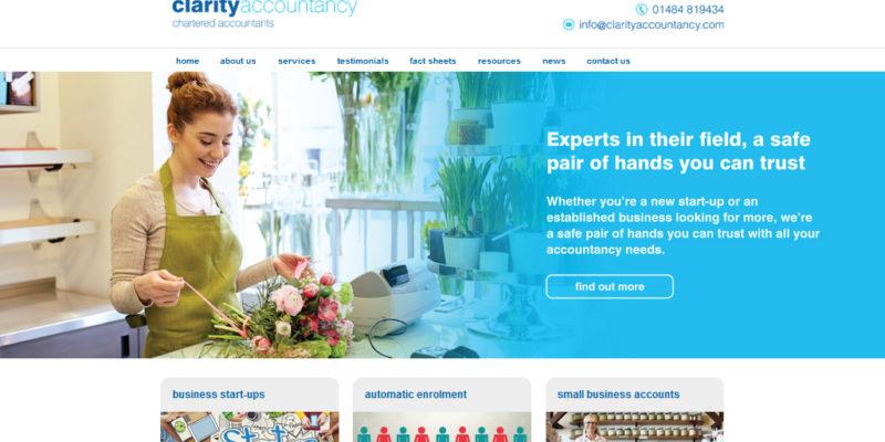 clarity accountancy web development