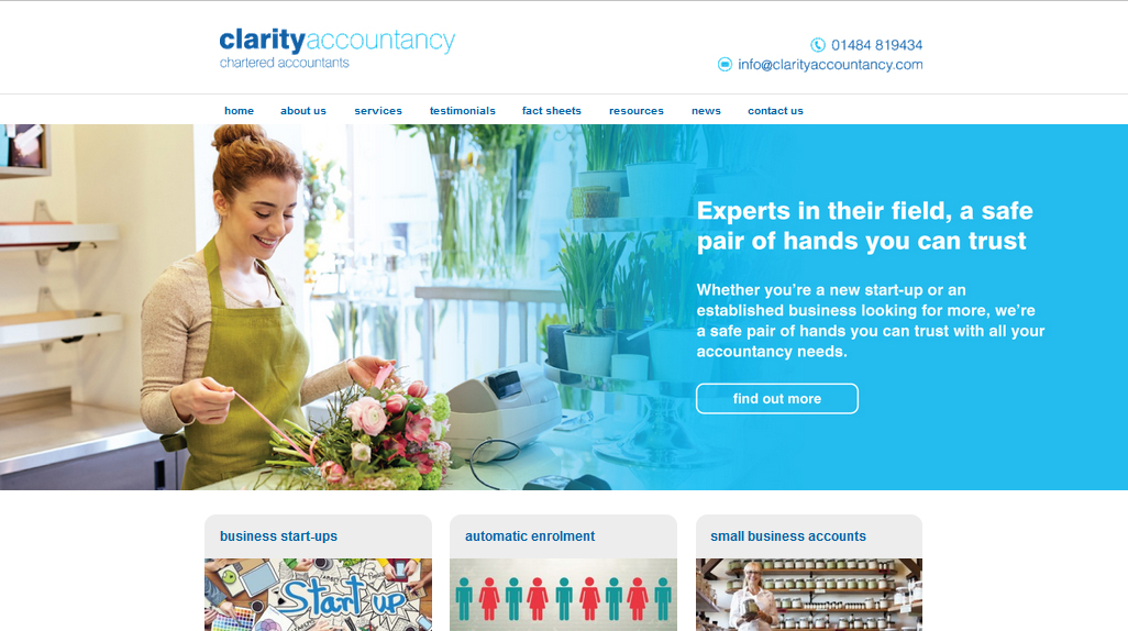 clarity accountancy web development